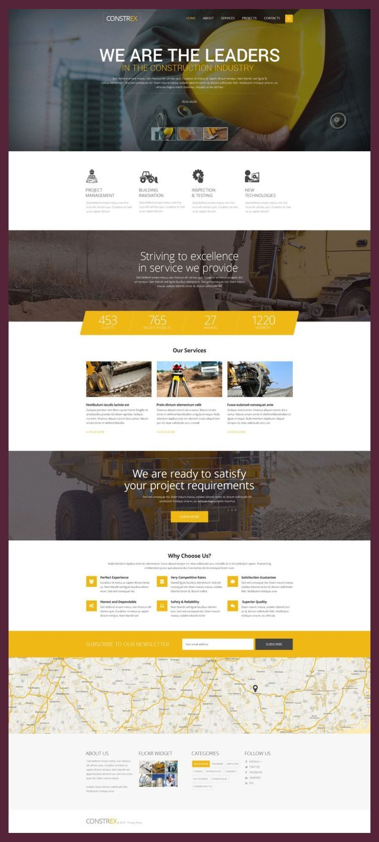 Responsive Web Design Framework Constrex Website Template 55226 Responsive Web Design L Web Design Tips Simple Web Design Web Layout Design