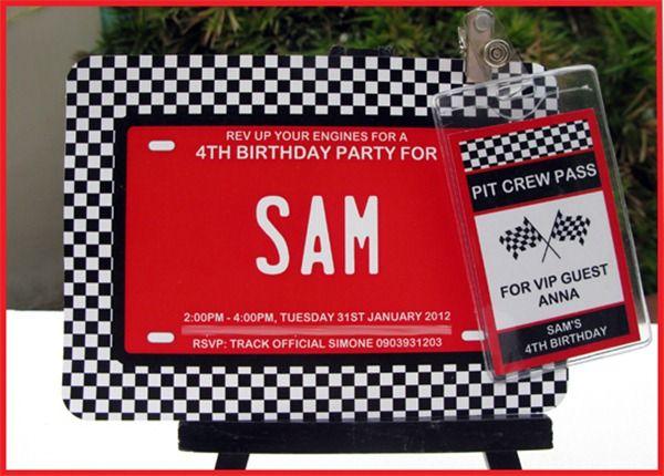 Car Birthday Party Invitation Boy Birthday Party Ideas