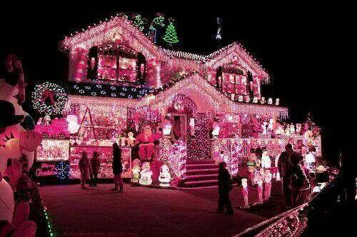 keywpods lighted pink glitter christmas home house xmas lights fairytale mystical dream