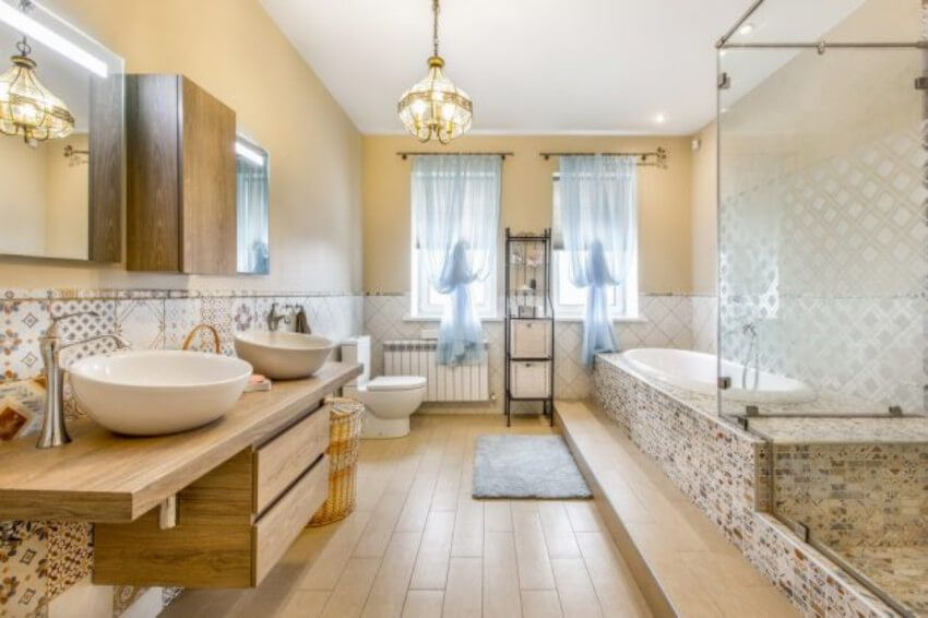 5 Dreamy And Relaxing Bathroom Designs For Your Home Large Bathroom Design Eclectic Bathroom Design Large Bathrooms