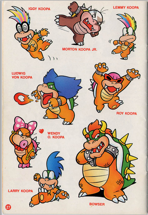 Bowser and the koopalings! So annoying in new super mario bros 2!!!!!