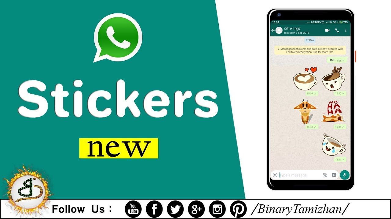 WhatsApp is rolling out the Stickers feature! Binary