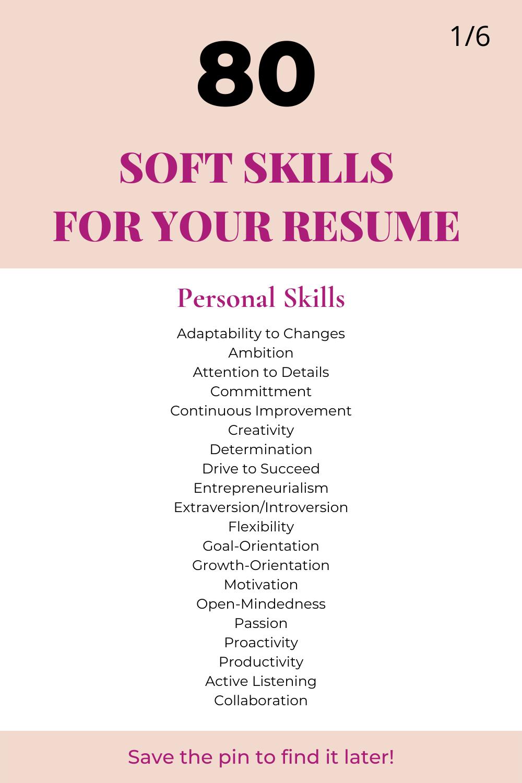 Soft Skills List For Resume In 2021 Resume Skills Resume Skills Section Resume Skills List