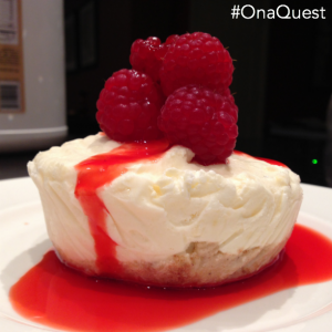 An amazingly delicious #Quest Healthy Cheesecake recipe! #OnaQuest
