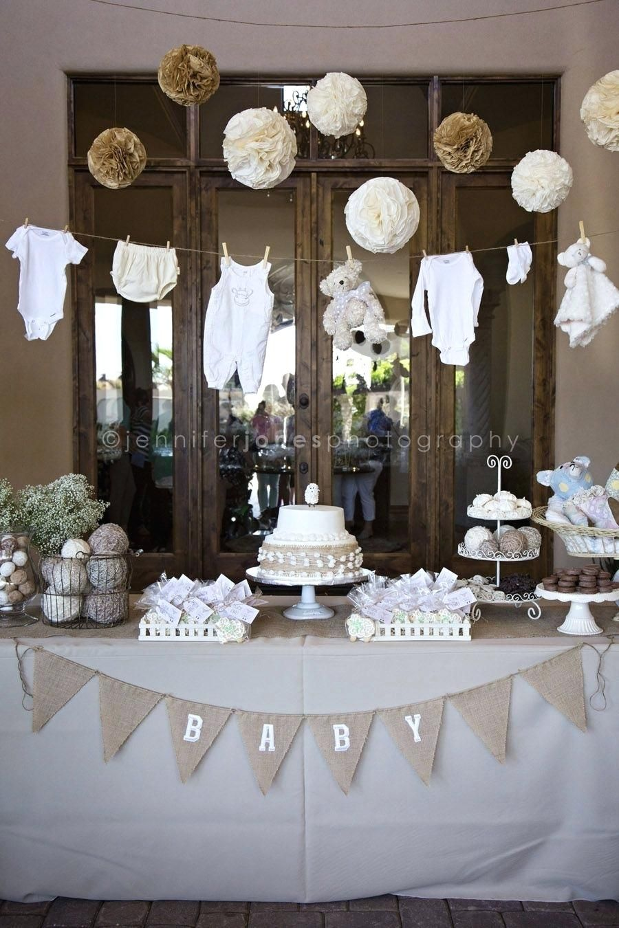 all white baby shower ideas vintage lamb themed neutral
