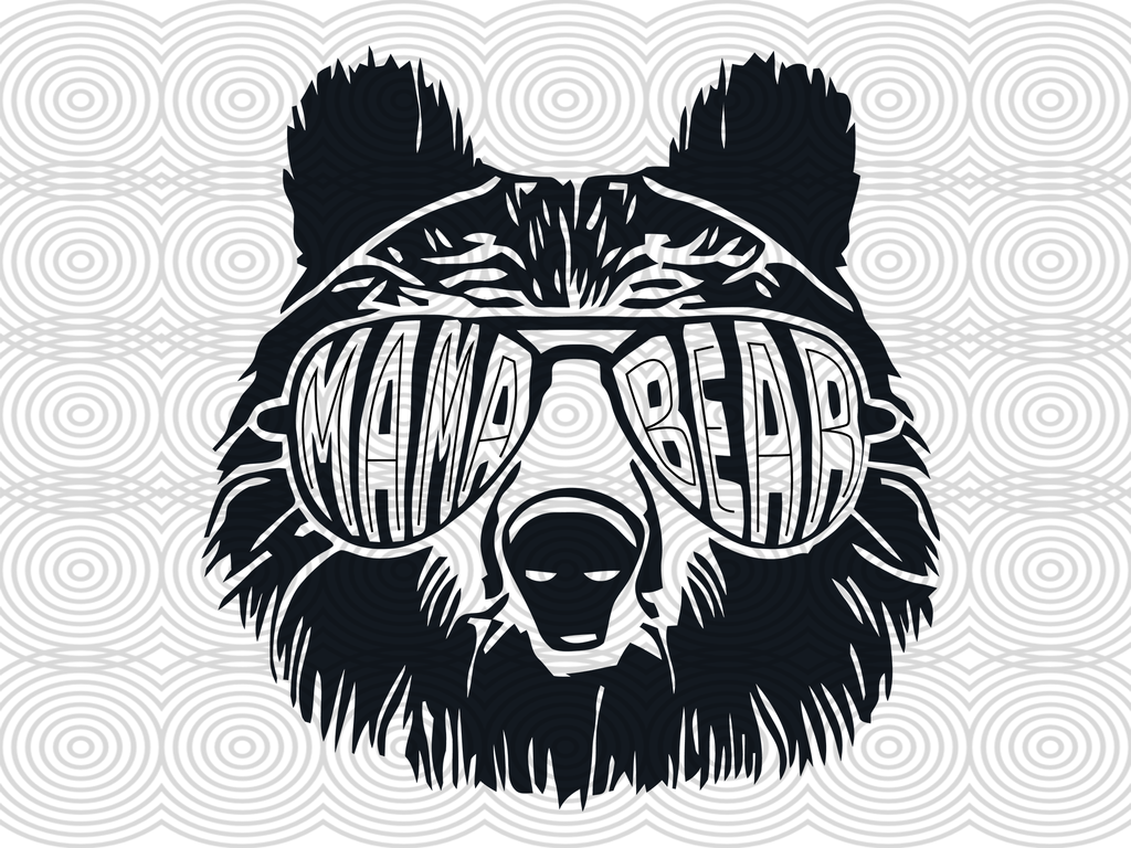 Mama Bear Svg Files For Silhouette Files For Cricut Svg Dxf Eps Png Instant Download Bear Silhouette Bear Tattoo Cricut