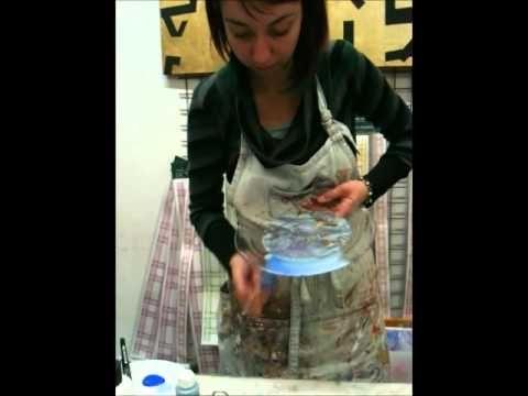 ▶ Decorazioni natalizie su piatti di vetro.wmv - YouTube