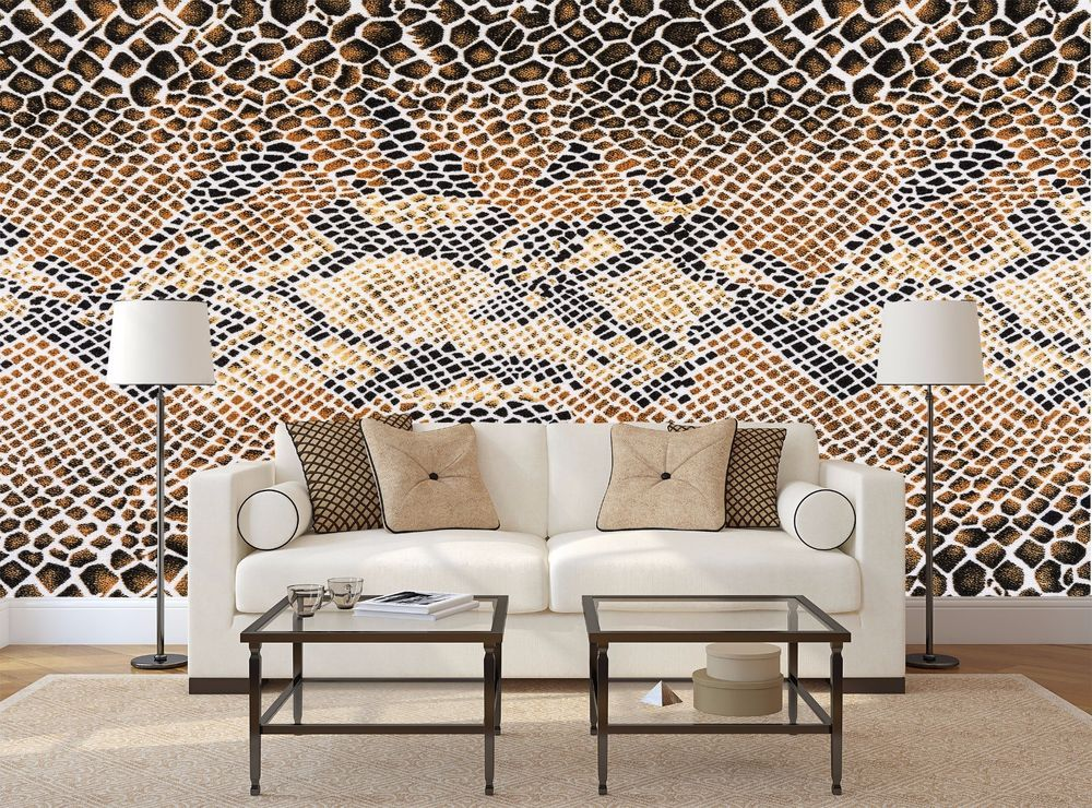 Texture Fabric Snake Leather Wall Mural Photo Wallpaper