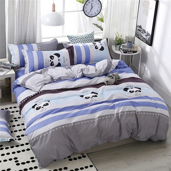 Moon Star Bat printing High Quality Bedding Set - 10, For 1.8m width bed