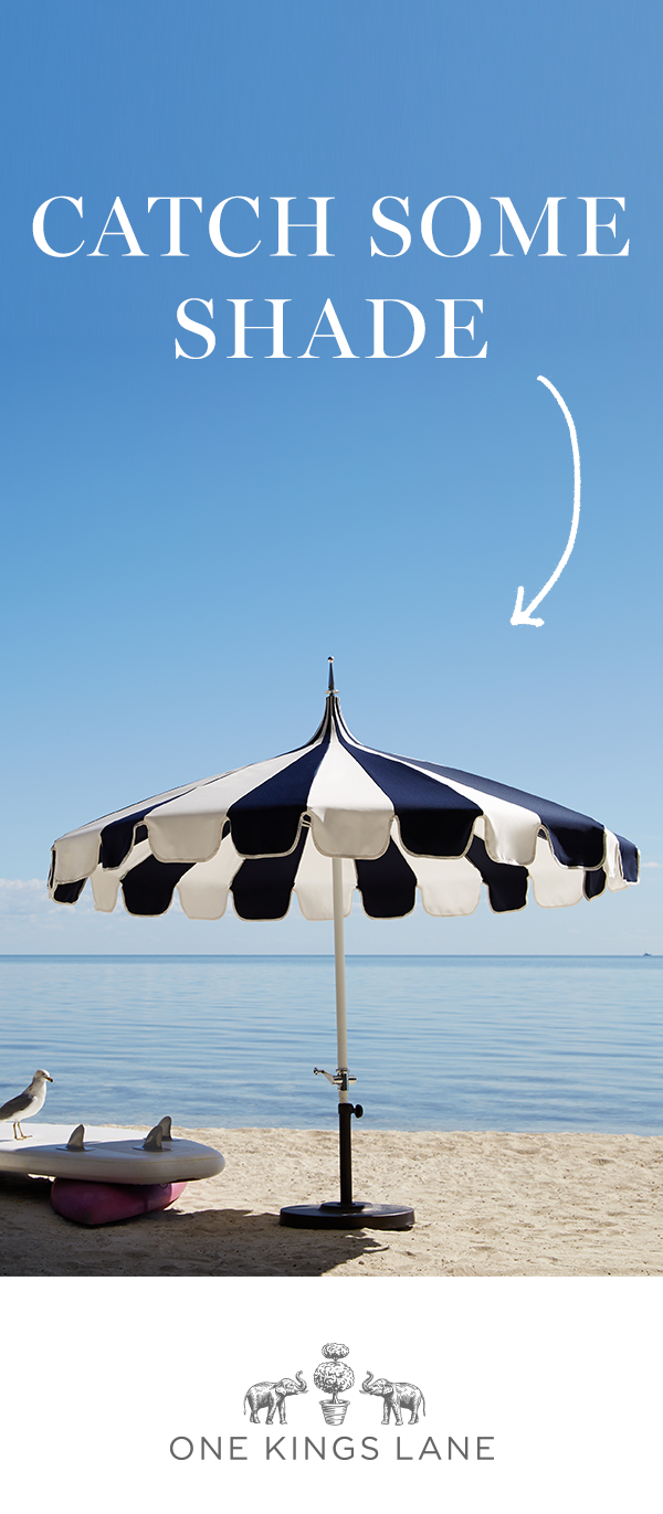 Whether Youu0027re Entertaining Or Just Lounging Outdoors, Catch Some Shade In  Style With This Patio Umbrella. Find The Perfect Outdoor Umbrella On One  Kings ...