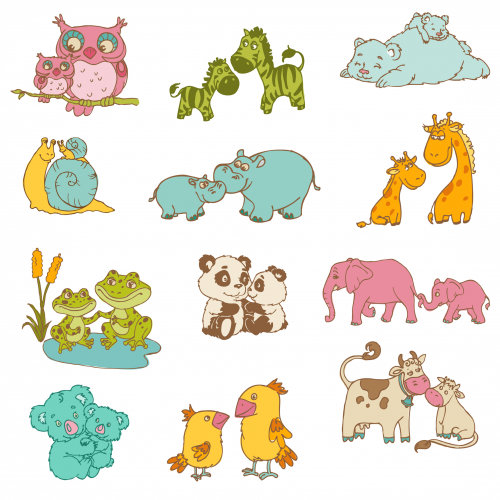 Mother S Day Printable Images Animals Mother And Baby Animals Animal Clipart Cartoon Animals