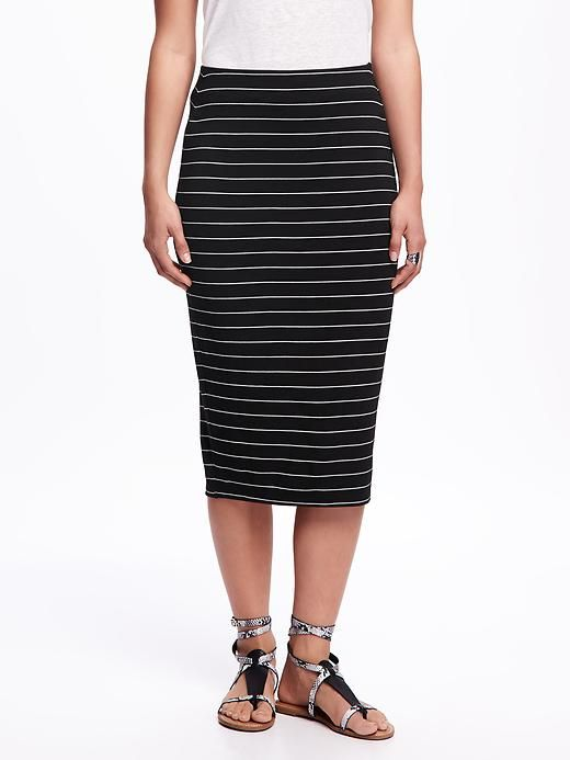 035b3777fe Jersey Pencil Midi Skirt for Women | Fashion, Style, Accessories ...