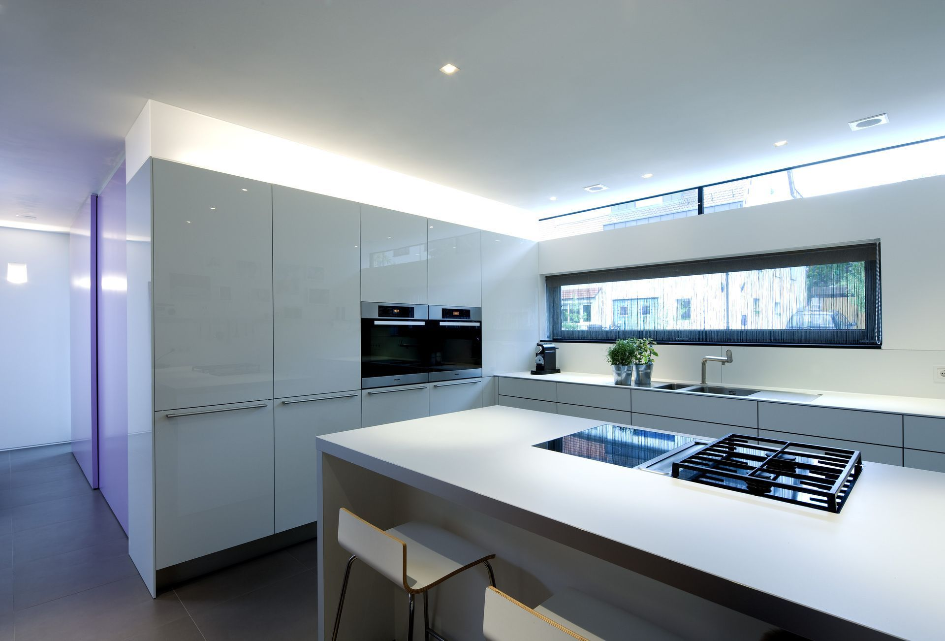 Häufig Weiße Küche mit Lichtband | house | Lichtband, Küche und Küche fenster XV53