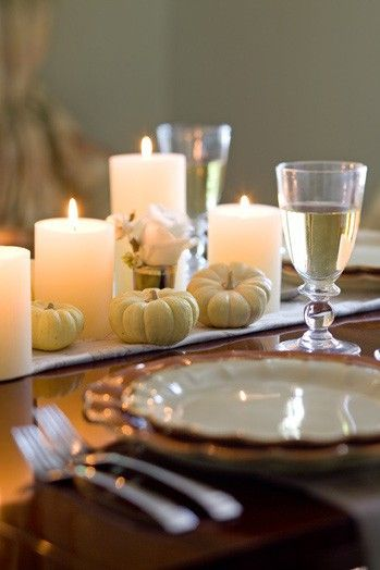Thanksgiving table. Simple and beautiful.