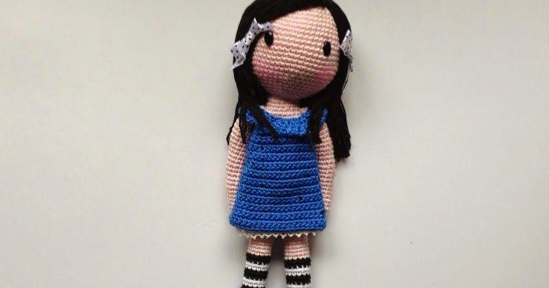 Patrón gratis para realizar una muñeca Gorjuss Amigurumi con botas y ...