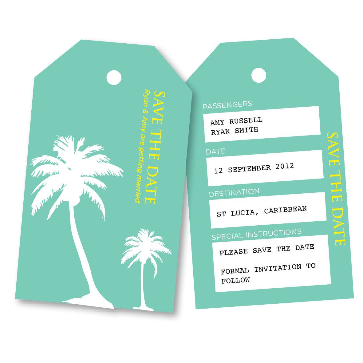 Save The Date Destination Wedding Invitations: PRINTABLE ANY COLOUR Save The Date Overseas Abroad Wedding