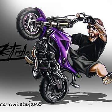 Badass Motorcycle Artwork By Scaronistefano Desenho De Moto