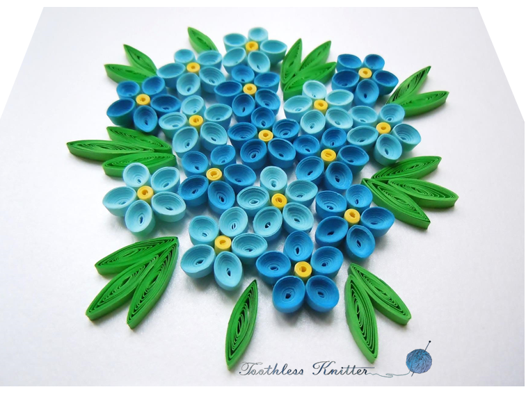 Forget Me Nots Niezapominajki Quilling Cards Quilling Craft Card Making Art