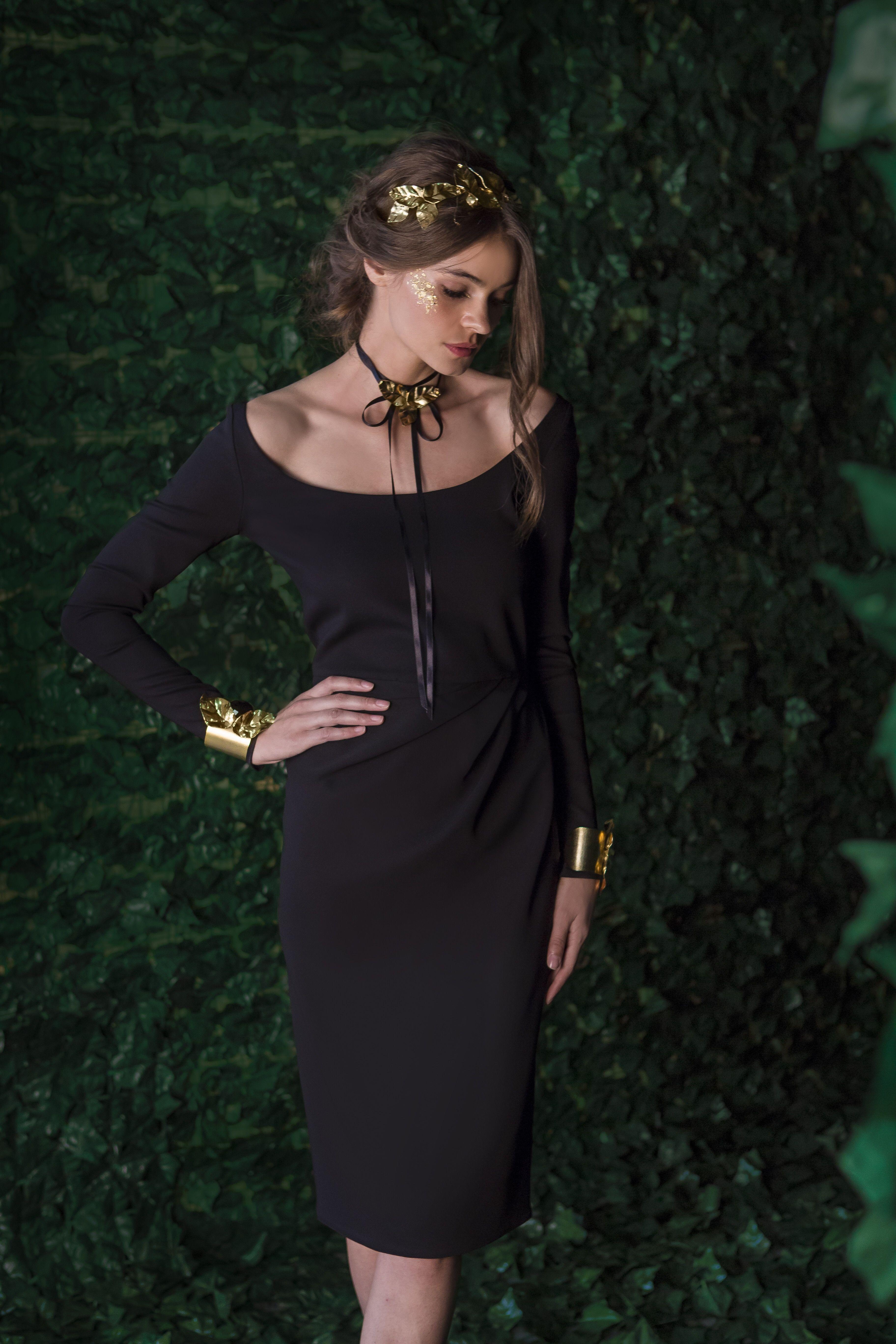Rhea Costa Black Dress Cold Shoulder Dress Fashion [ 5472 x 3648 Pixel ]
