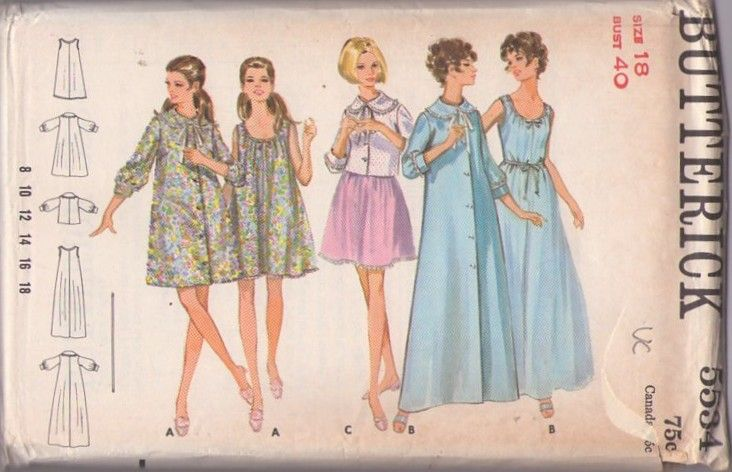 Butterick 5534 Vintage 60 S Sewing Pattern Dreamy Mad Men Vanity Fair Style Scoop Neck Goddess
