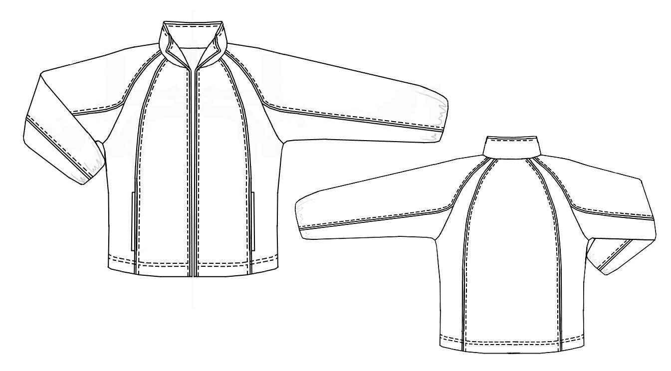 Sport Jacket With Raglan Sleeves Sewing Pattern 6098 Made To