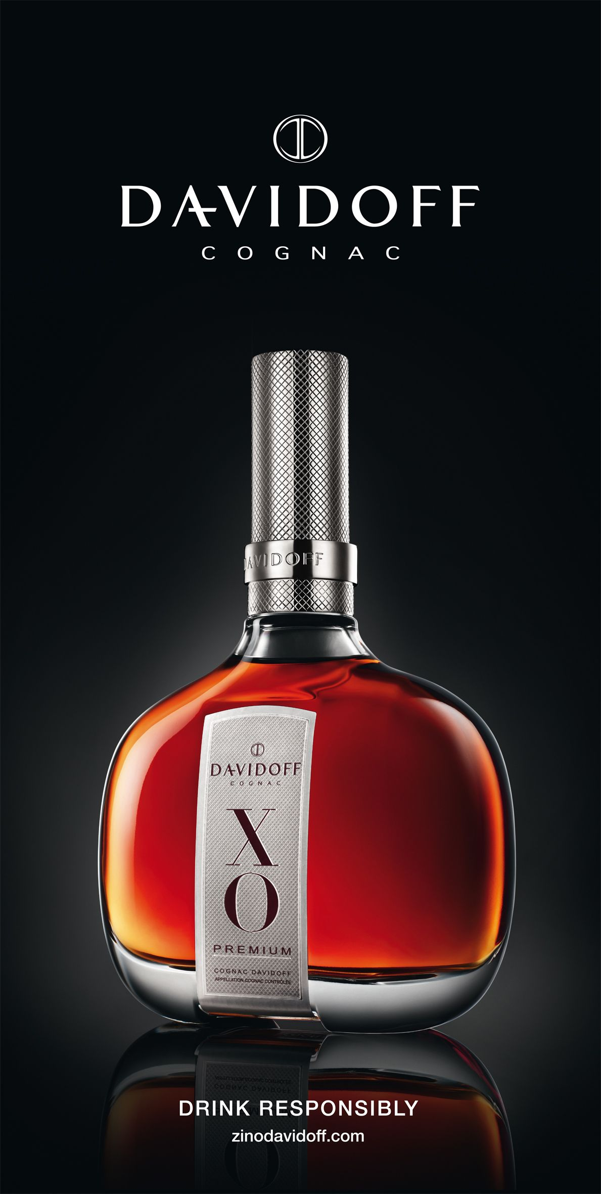 Cognac Davidoff Aeroports Brandy Bottle Cognac Strong Drinks