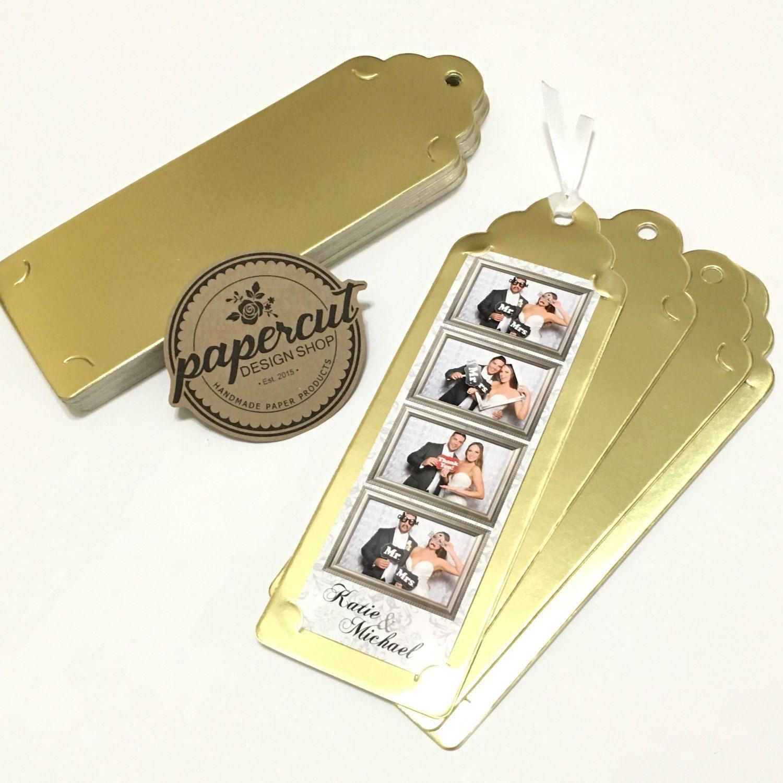 Fancy Gold Foil Bookmark Photo Strip Holder Want a unique wedding ...