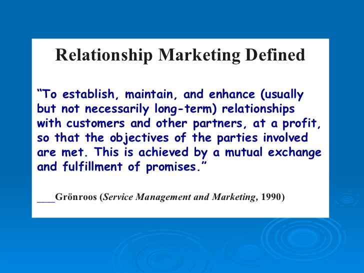 Relationship Marketing Gronroos Relationship Marketing