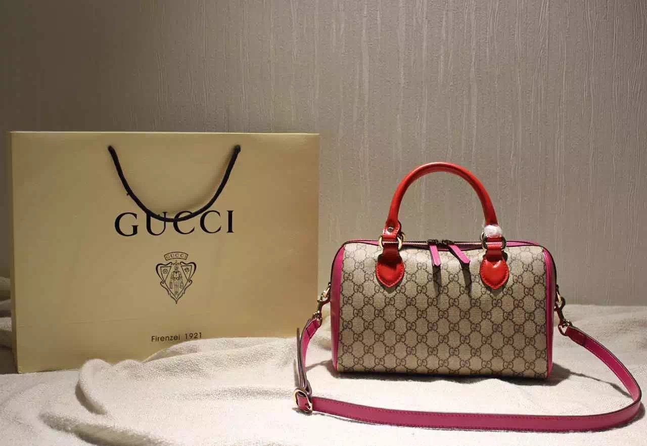 2fb66e0bc36 Gucci Small Blooms GG Supreme Top Handle Bag Red Rosy Fall 2015 ...