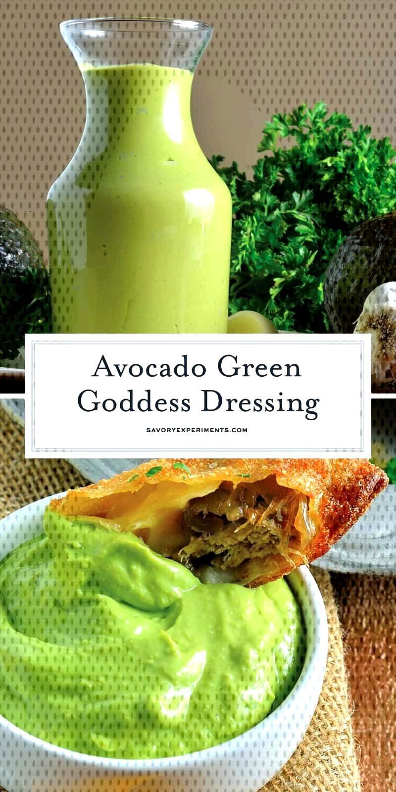 Avocado Green Goddess Dressing Avocado Green Goddess Dressing,