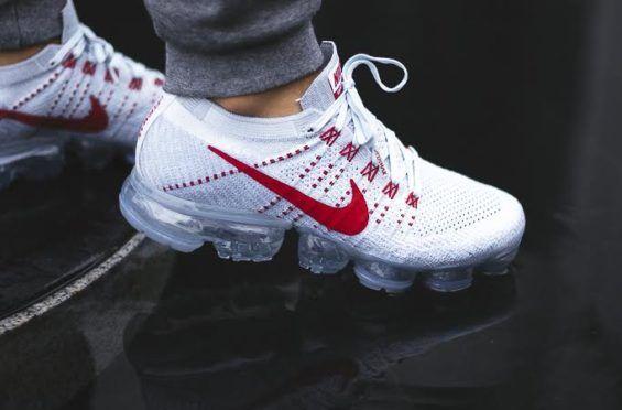 db56bc3c2f Release Reminder: Nike Air VaporMax Pure Platinum University Red •  KicksOnFire.com