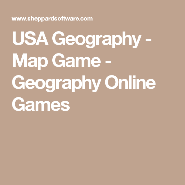 USA Geography - Map Game - Geography Online Games | homeschool T ...