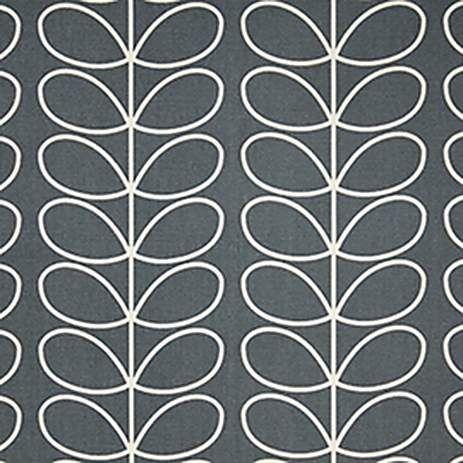 Orla Kiely Cool Grey Linear Stem Fabric   Dunelm