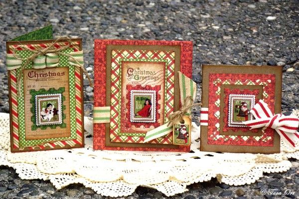 Holiday Card Trio * Graphic 45 * by sexypeanut @2peasinabucket