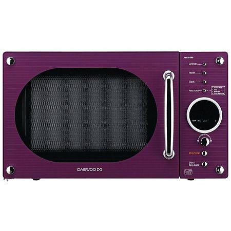 Daewoo KOR6N9RP 20L 800W Digital Microwave Oven - Purple | Dorm room