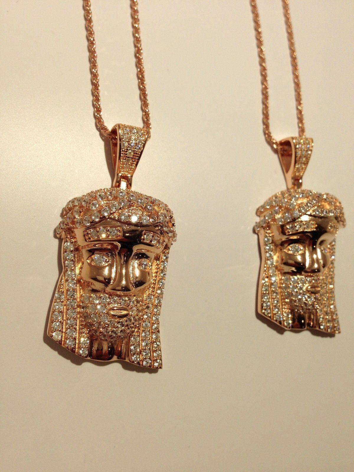 2x ICED Custom Jesus Piece w/ 30\