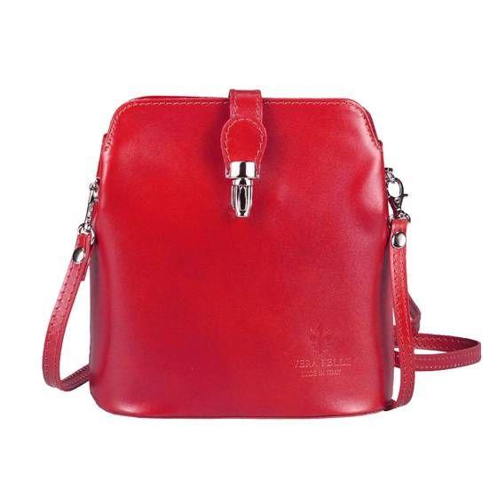 Photo of OBC Made in Italy Damen Leder Tasche Umhängetasche Schultertasche Sub34.Rot