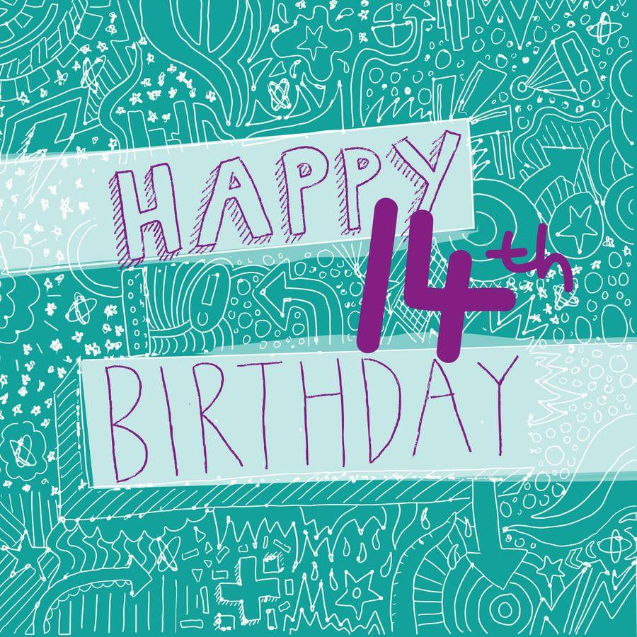original_happy14thbirthdaygirlscard.jpg (900×900