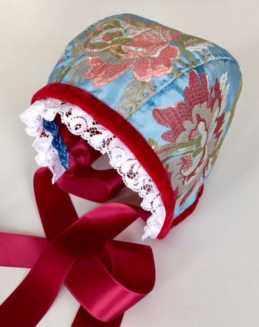 Christening Bonnet, silk   Christening : bonnets   Pinterest