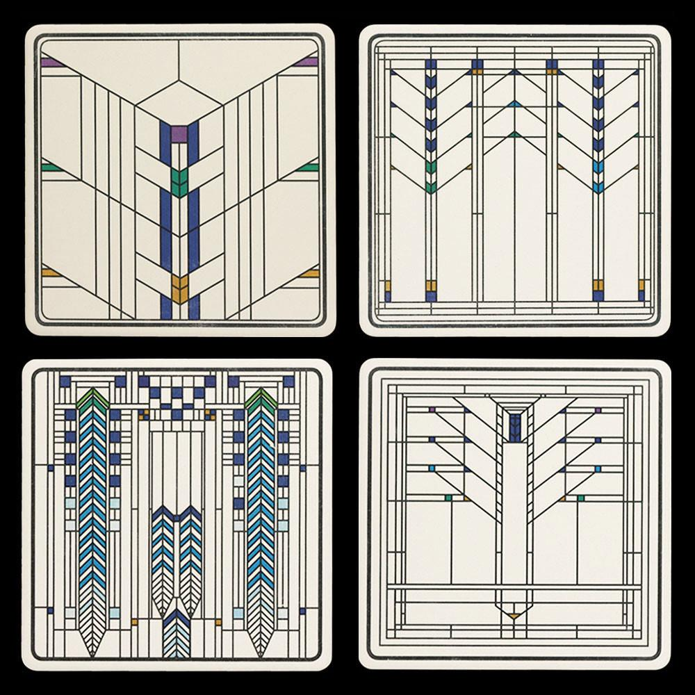 Frank Lloyd Wright Ennis House Windows Coasters Products