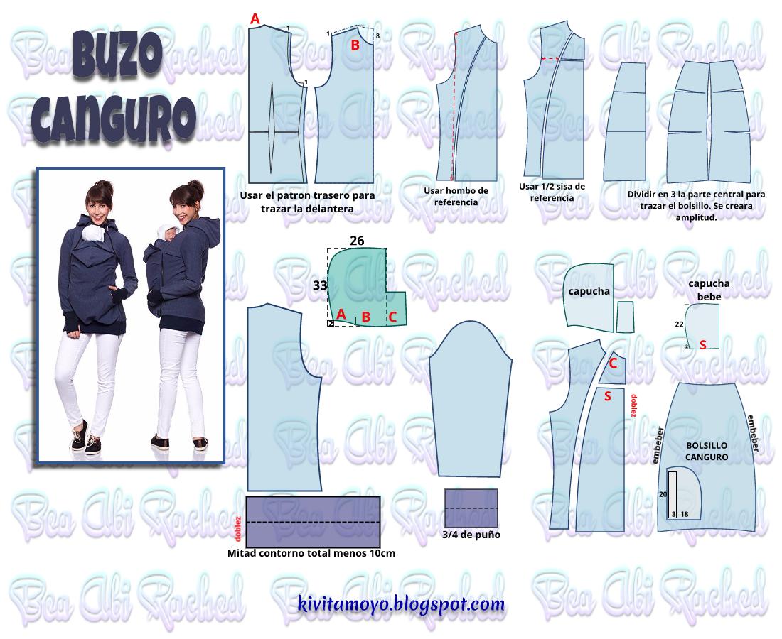 KiVita MoYo: BUZO CANGURO | EMBARAZADAS | Pinterest | Sewing, Easy ...