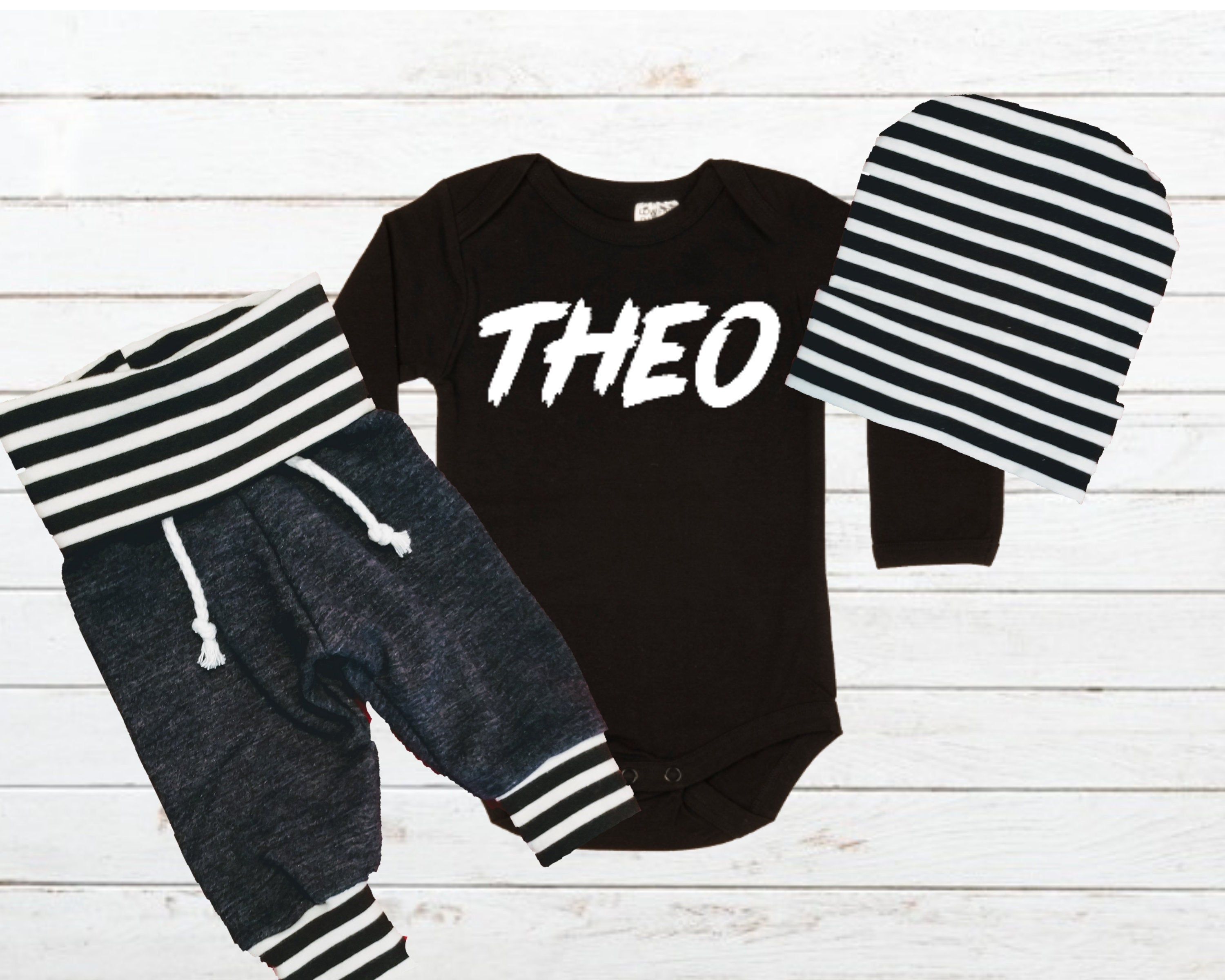 Photo of BABY BOY Personalized baby shower gift, Coming Home Outfit, Pregnancy announcement, gender reveal ideas, hospital take home outfit