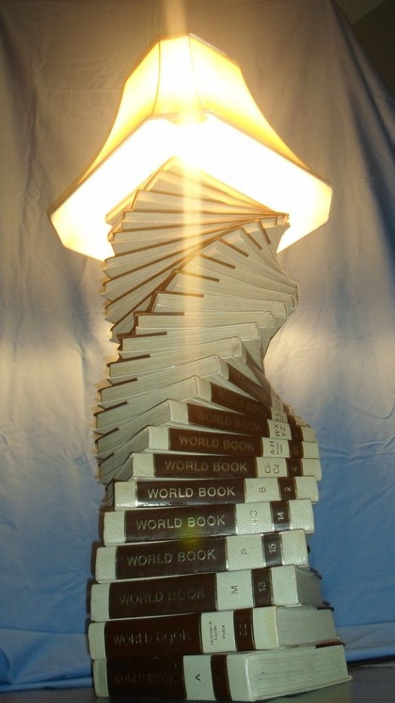 20 creative diy lamp ideas including this very cool upcycled 20 creative diy lamp ideas including this very cool upcycled encyclopedia lamp aloadofball Gallery