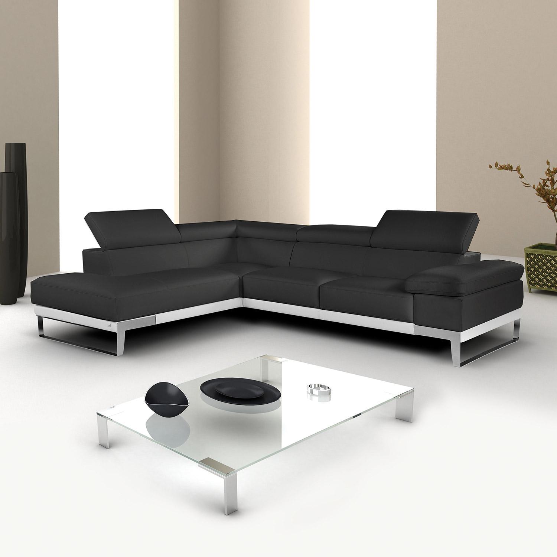 JM Furnishings Nicoletti Domus Premium Italian Leather Sectional