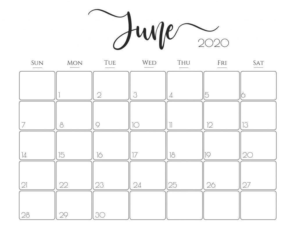 Cute June 2020 Calendar Floral Design Wallpaper In 2020 Calendar