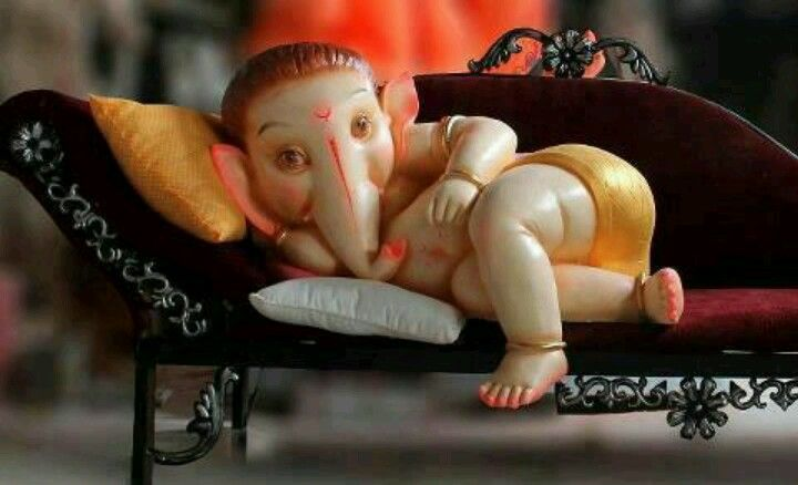 Lying On The Couch Lord Ganesha Baby Ganesha Ganesh Images