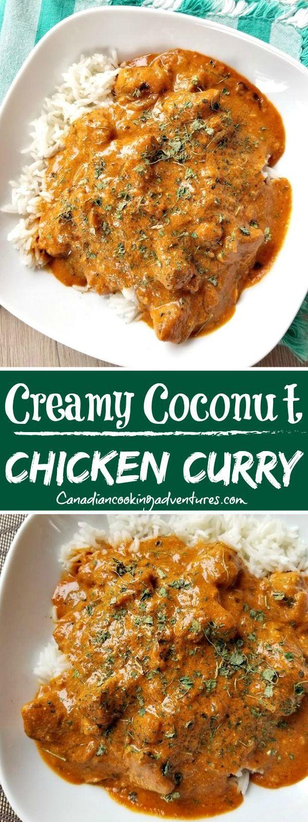 Cremiges Kokosnuss-Curry-Huhn #cremig #Kokosnuss #Curry #Huhn #Indisch #chickenrecipes