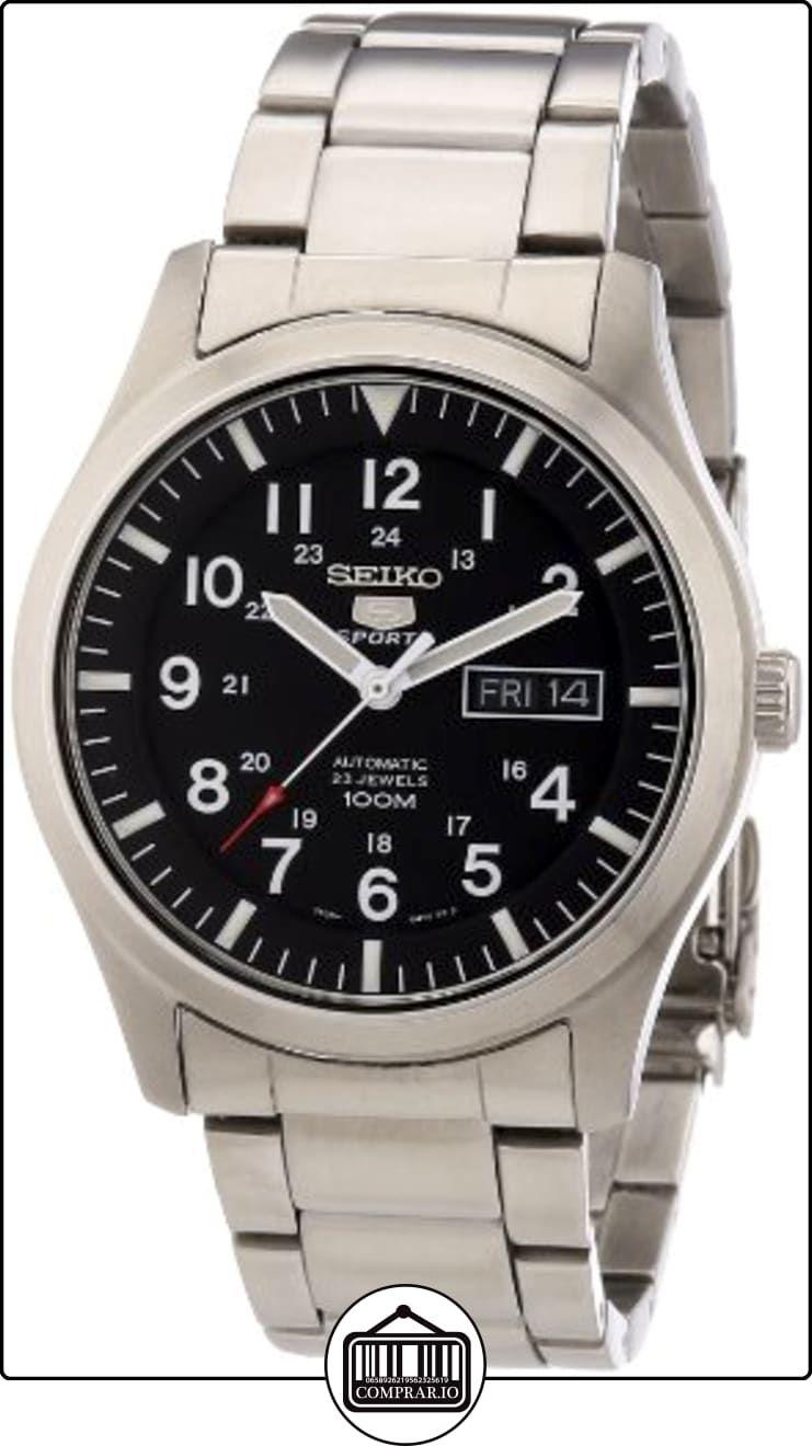 3eaac2fe7a97 Seiko SNZG13K1 - Reloj analógico de caballero automático con correa de  acero inoxidable plateada - sumergible a 100 metros (importado de Alemania)  de ...