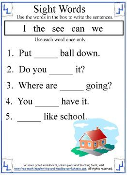 Kindergarten Sight Words Activities  Language Ideas  Pinterest  Kindergarten Sight Words Activities
