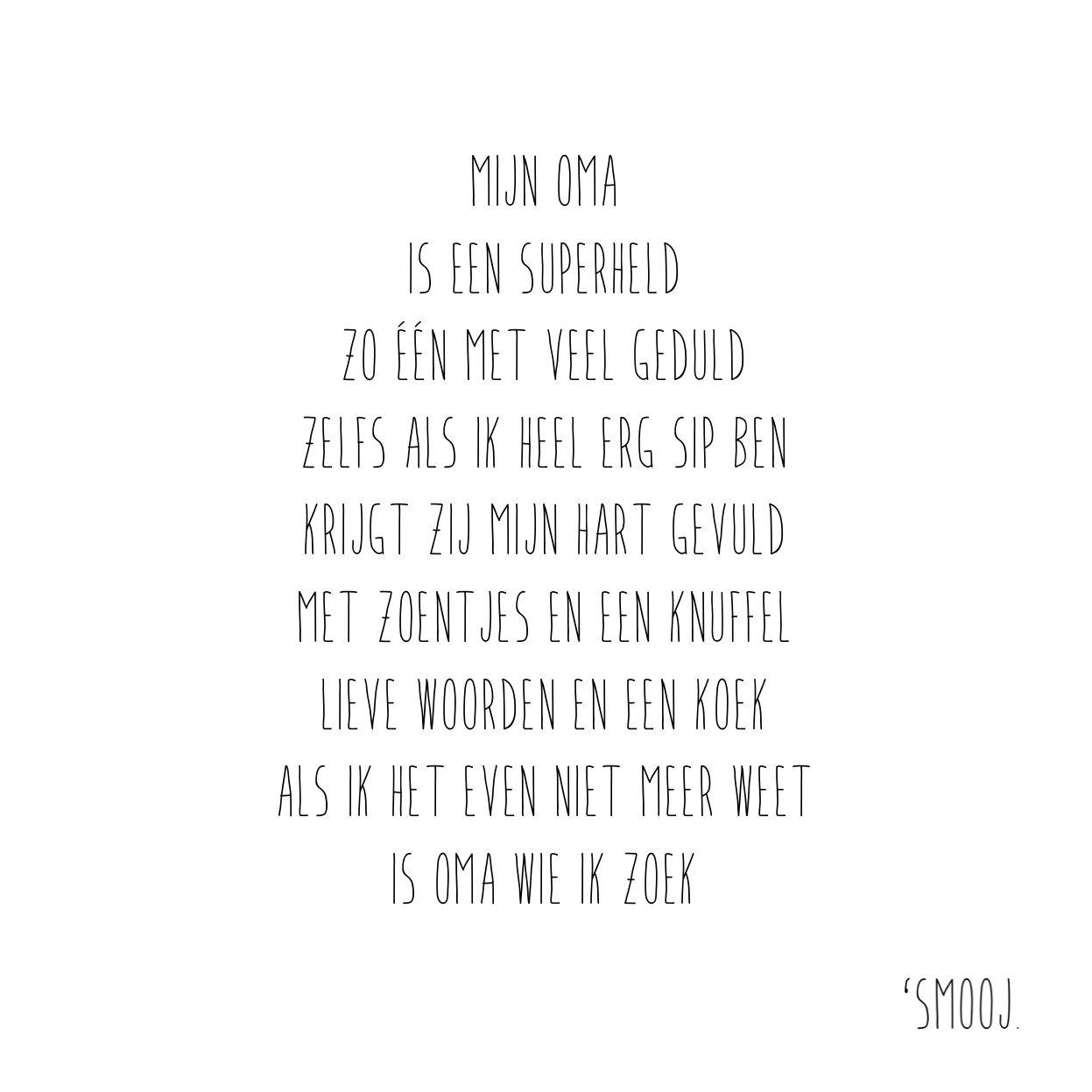Zijn gedicht oma Gedichten uitvaart